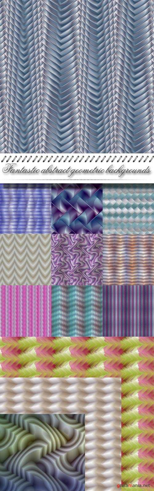Fantastic abstract geometric backgrounds
