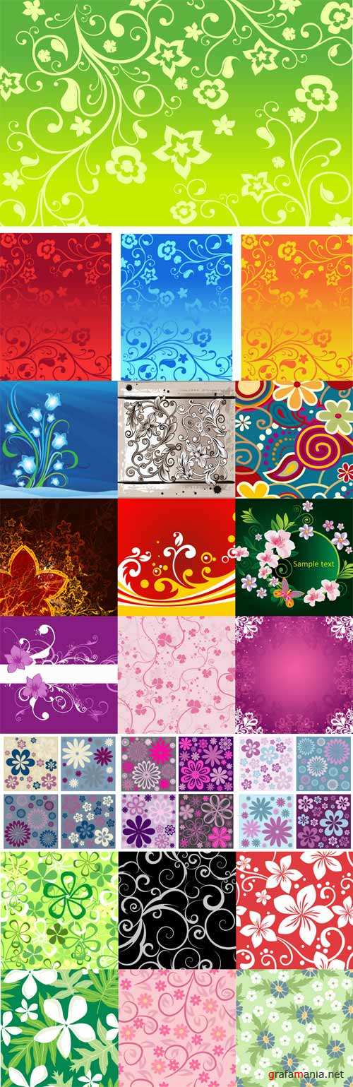 Floral patterns backgrounds stock vector - 6