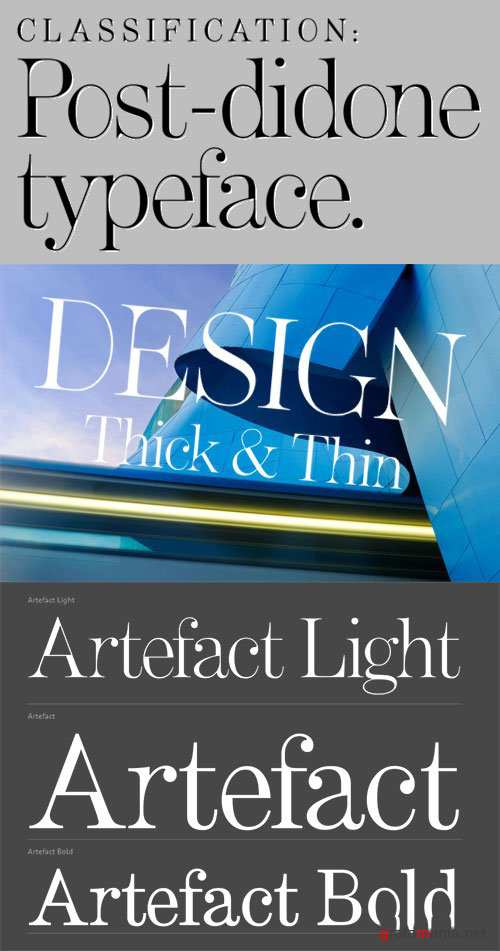 Artefact Font - Thick and Thin Modern Strokes