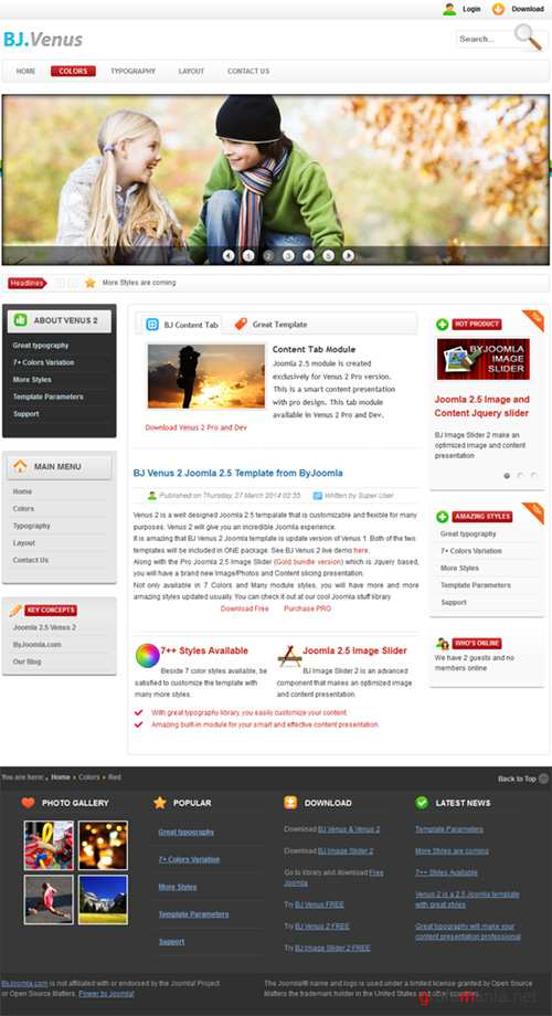 CM - B Venus 2 - Light and Bright Joomla 233191