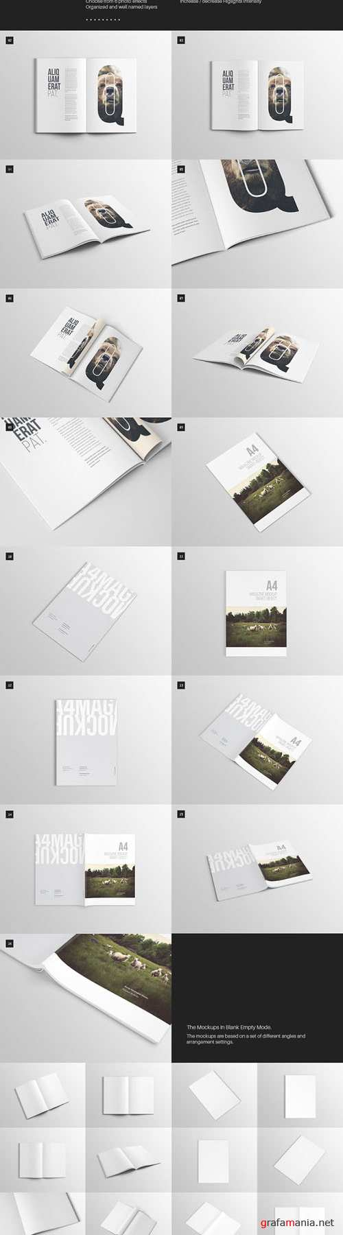 16 Quality A4 Magazine Mock-up Templates
