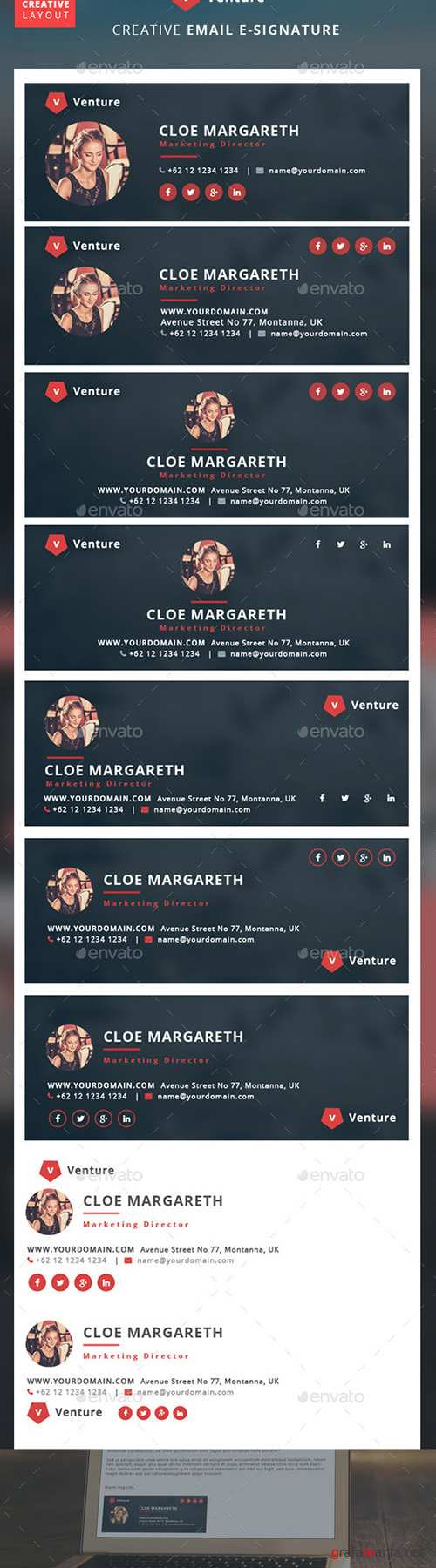 GraphicRiver - Creative E-Signature - Venture 10305103