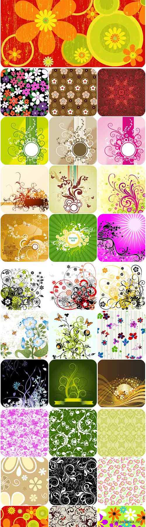 Floral patterns backgrounds stock vector - 4