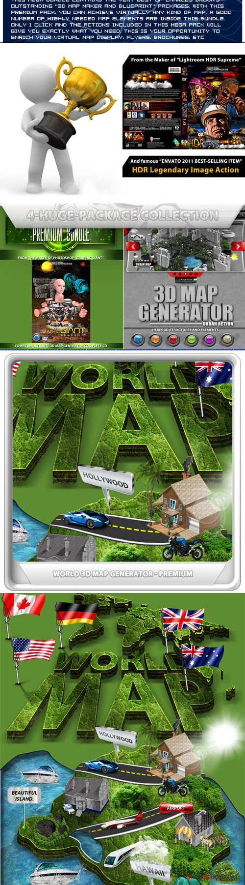 Graphicriver All Charles Brown's 3D Map Maker Bundle 10682400