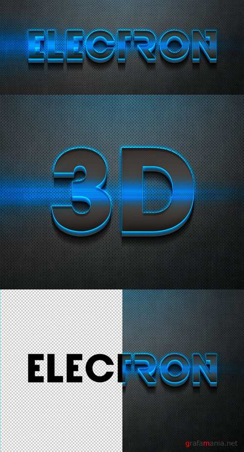 3D Neon Text Effect Style PSD Template
