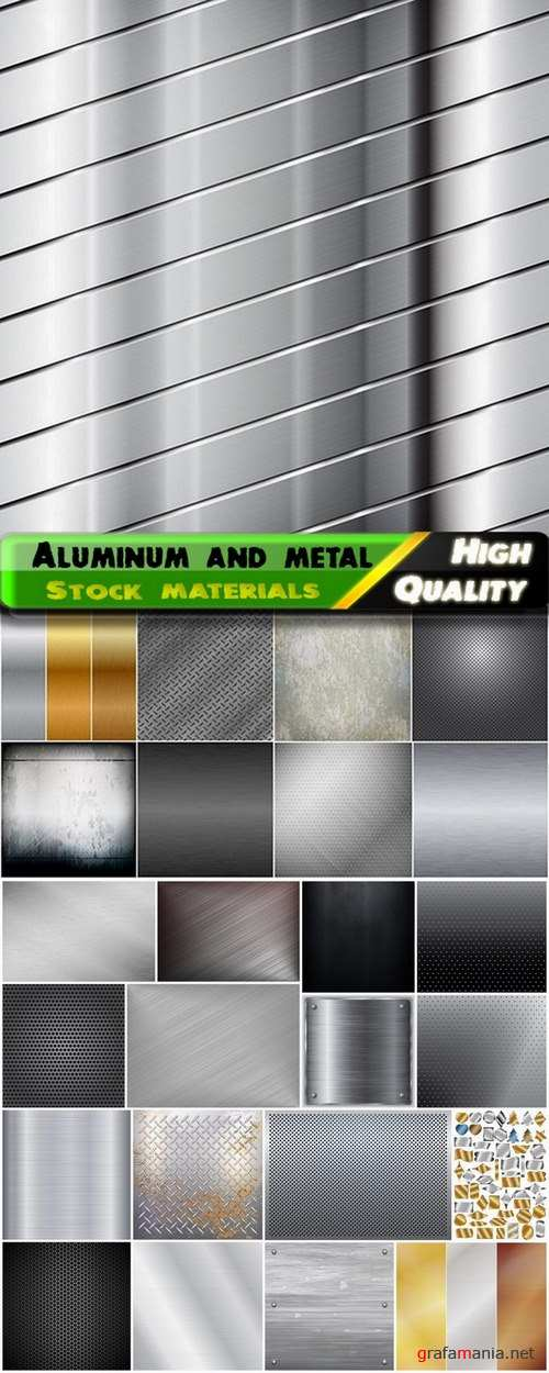 Aluminum and metal textures and backgrounds - 25 Eps