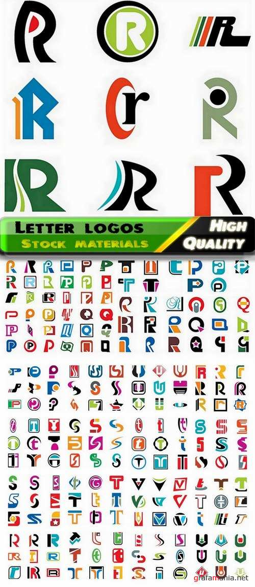 Letter vector logos for business from stock 6 - 25 Eps