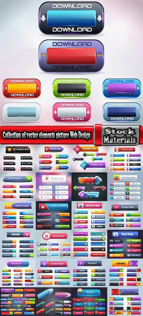 Collection of vector elements picture Web Design 25 Eps
