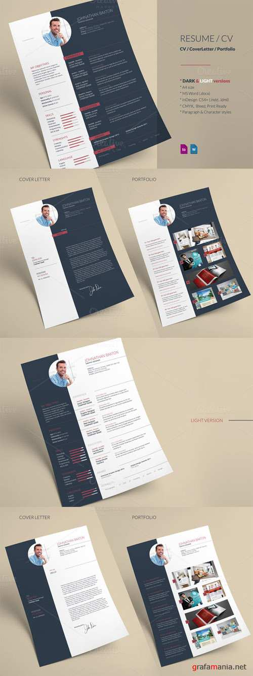 Resume CV Indesign