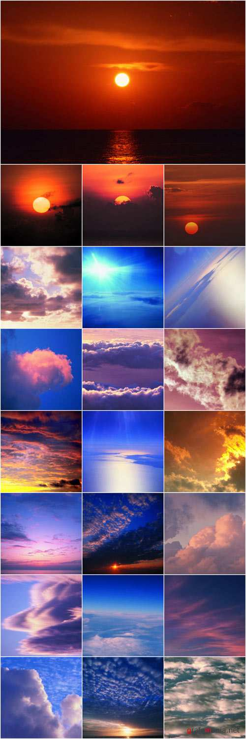 Beautiful sky. Sunrises and Sunsets part 2
