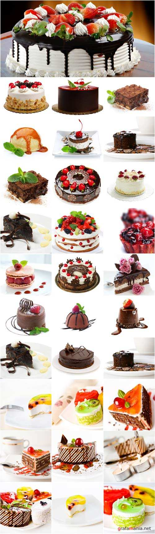 Sweet dessert - cakes and pies