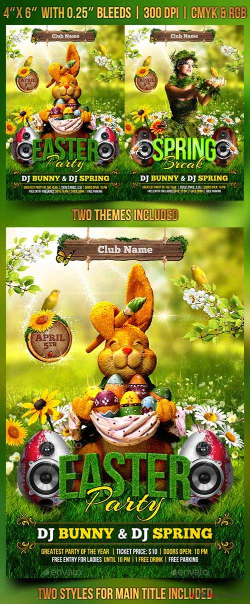 GraphicRiver Spring and Easter Flyer Template 10668995