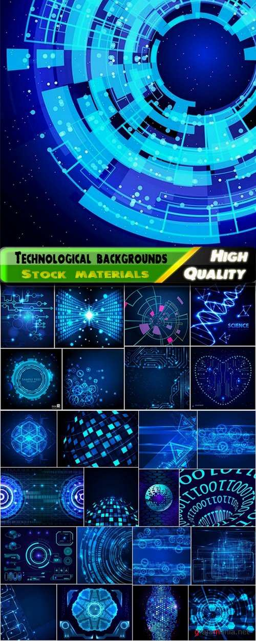 Abstract technological backgrounds - 25 Eps