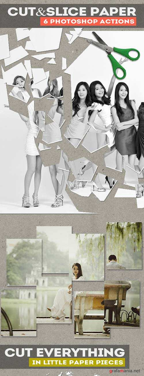GraphicRiver Cut and Slice Paper Photoshop Actions