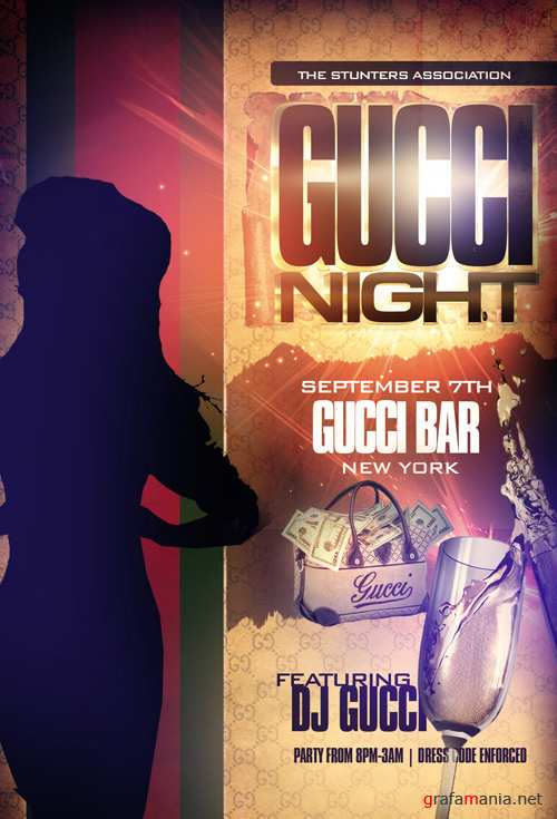 Flyer Template - Gucci Night