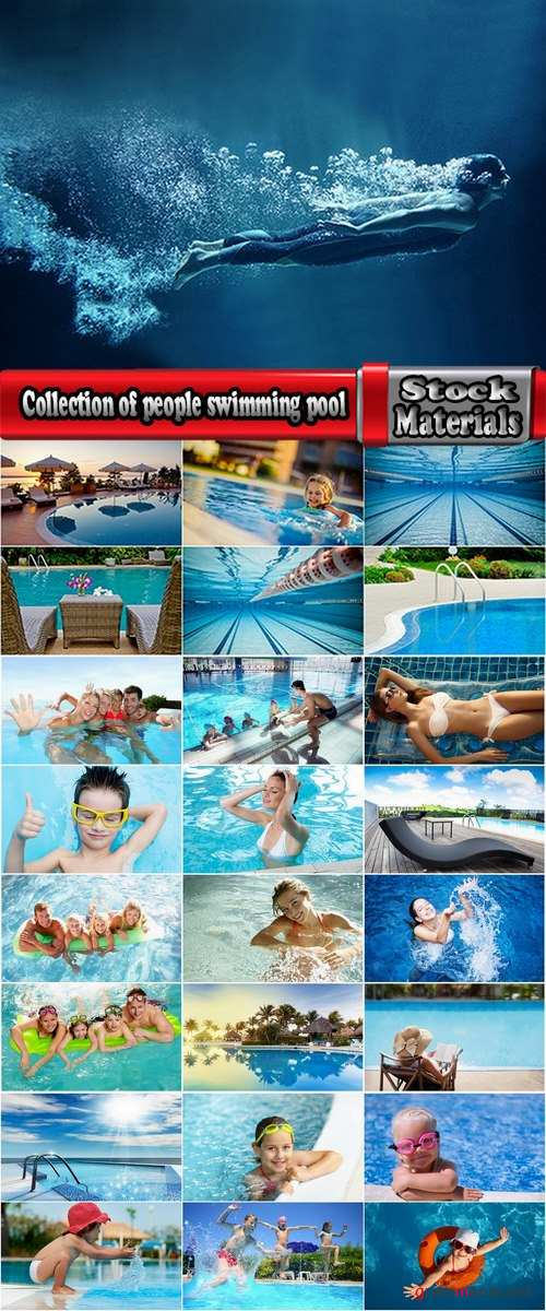 Collection of people swimming pool swimming child family inflatable mattress 25 HQ Jpeg