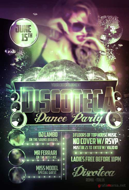 Flyer Template - Disco Party