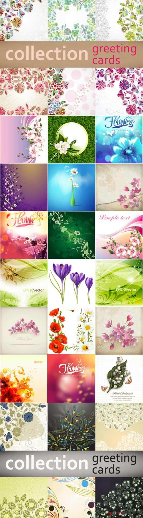 Romantic vector background with flowers-3