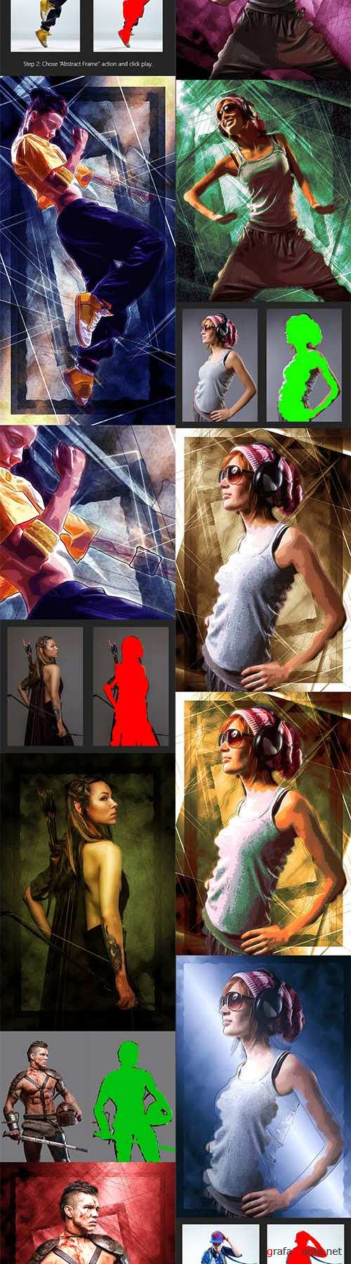 GraphicRiver - Abstract Frame Photoshop Action 10957345