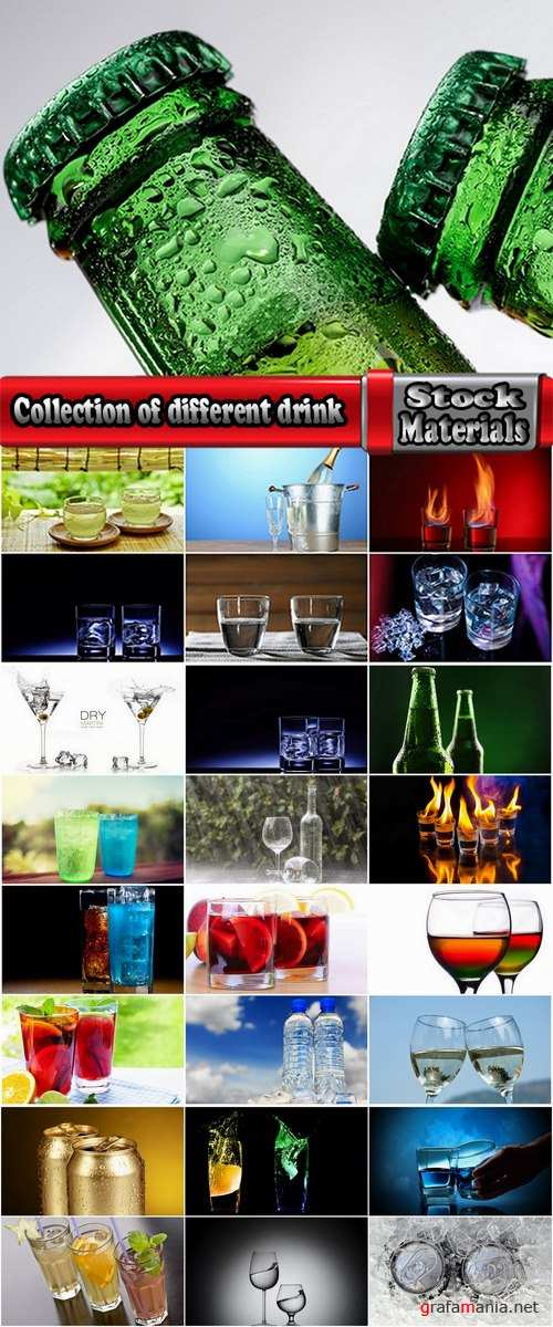 Collection of different water drink champagne glass alcohol beer champagne glass hot drink 25 HQ Jpeg