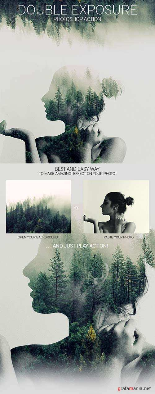 GraphicRiver Double Exposure Photoshop Action