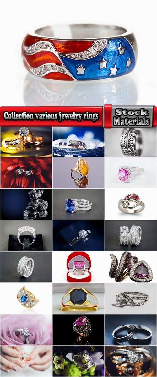 Collection various jewelry rings wedding ring Jewel ring 25 HQ Jpeg