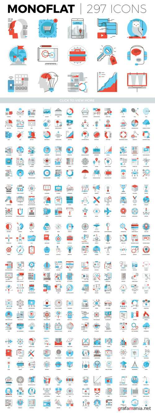 Vector Monoflat Icons Collection