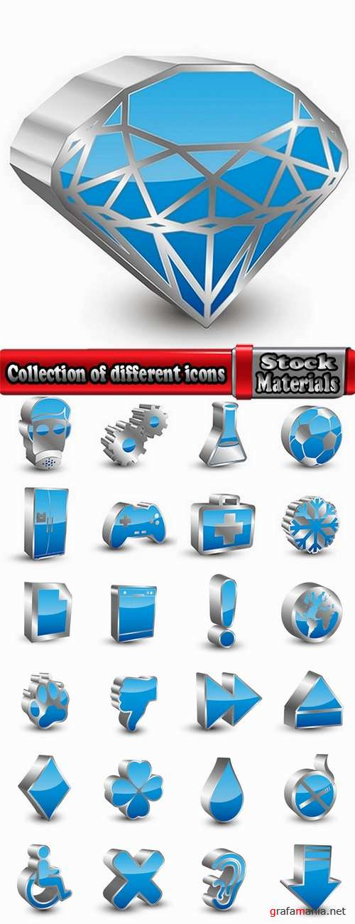 Collection of different icons 14-25 Eps