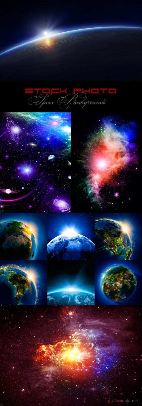 Space Background raster graphics