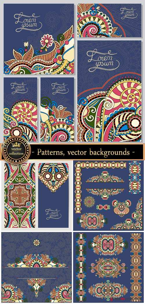 Original patterns, vector backgrounds