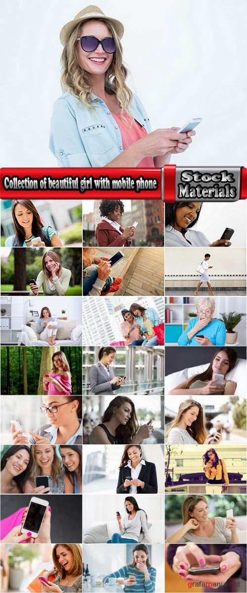 Collection of beautiful girl with mobile phone in hand mobile call interior 25 HQ Jpeg