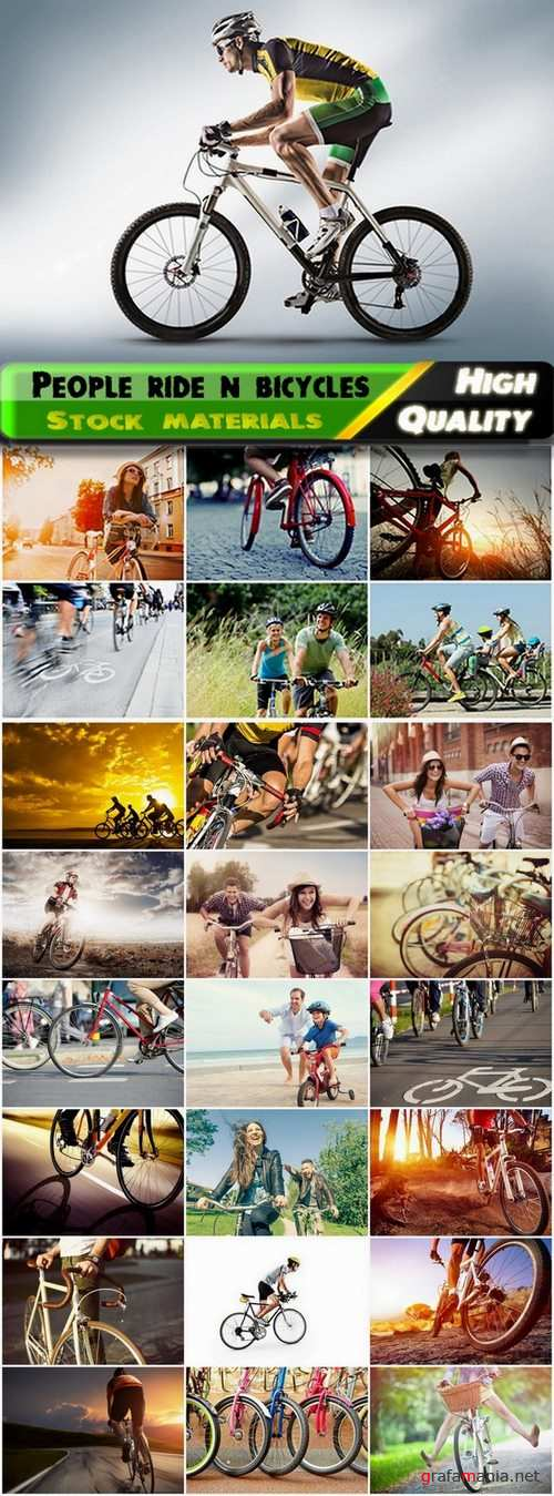 Sports people ride and compete on bicycles - 25 HQ Jpg