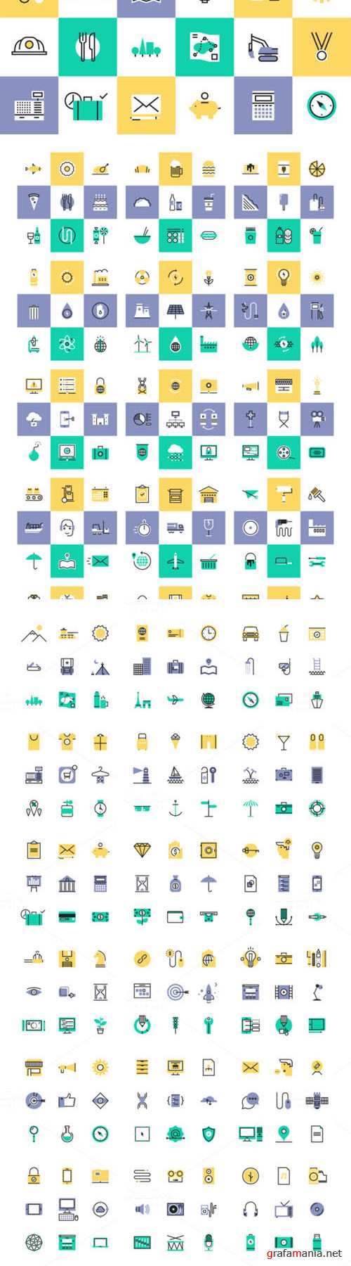 Vector Boldee Pictogram Collection