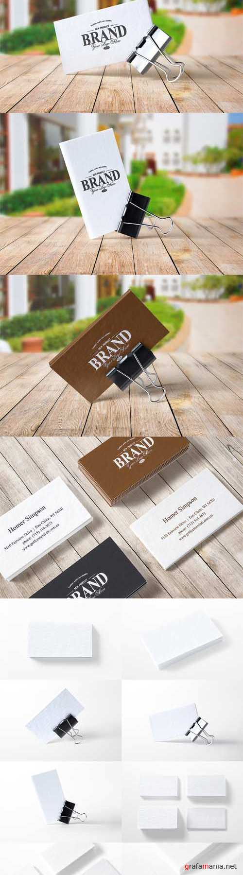 PSD - 8 Realistic Business Card Mockups