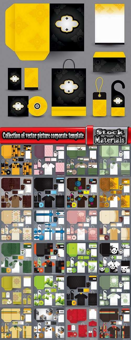 Collection of vector picture corporate template images for printing on a variety of subjects advertising #3-25 Eps