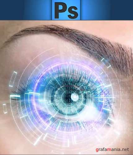 How to Create a Futuristic Eye in Photoshop (2015)