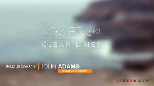 VideoHive - Lower 3rds - Clean Lines 11229870