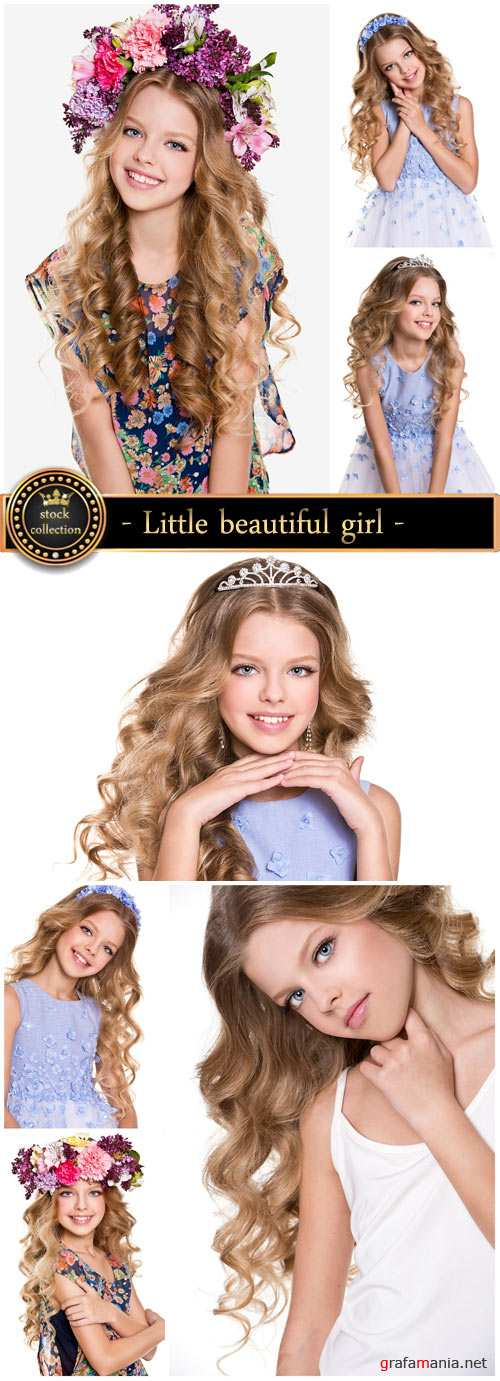 Little beautiful girl, a princess - Stock photo