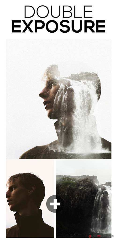 GraphicRiver Double Exposure Photoshop Action 11617764