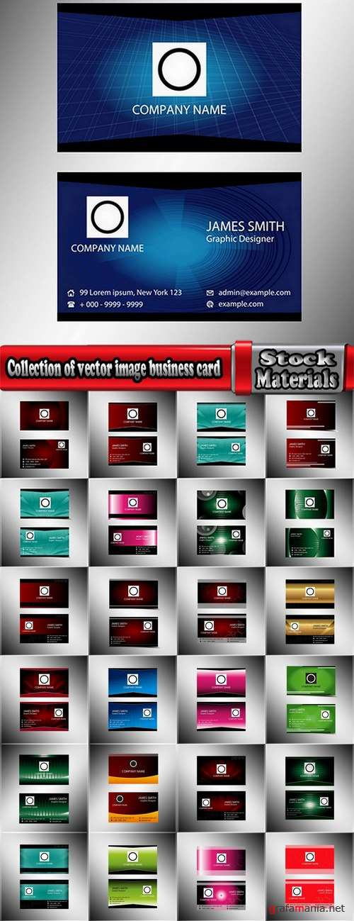Collection of vector image business card business logo template banner 25 Eps