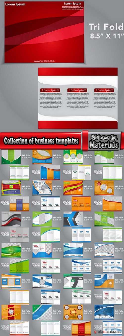 Collection of business templates flyer banner brochure booklet 25 Eps