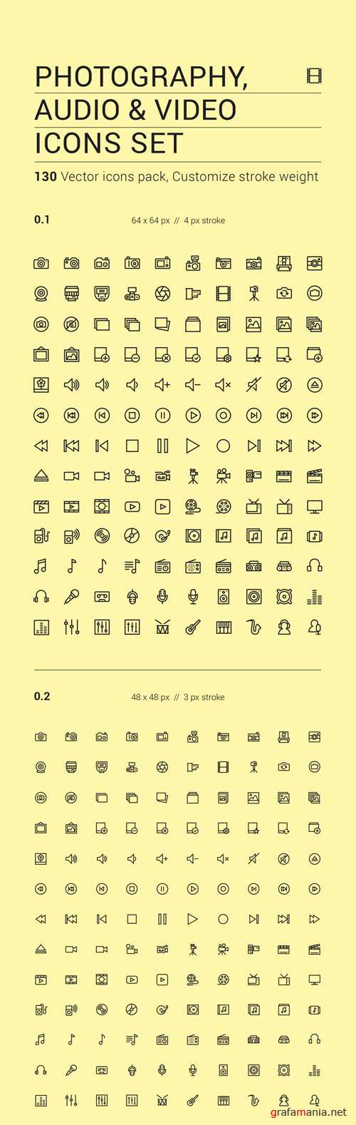 The Icons Vector Set - Media