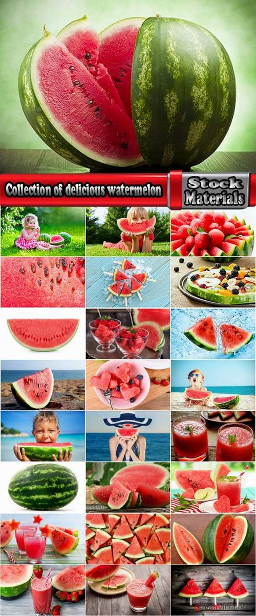 Collection of delicious watermelon seed watermelon juice green crust 25 HQ Jpeg