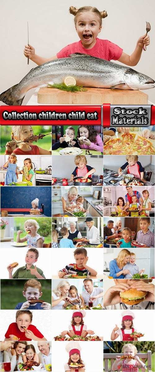 Collection children child eat a variety of foods a child a family dinner 25 HQ Jpeg