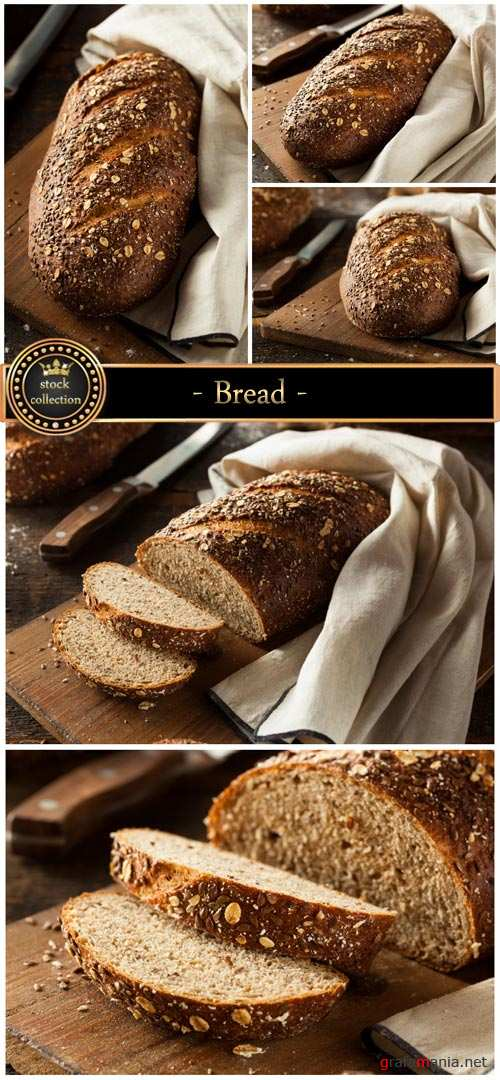 Bread on wooden boards - stock photos