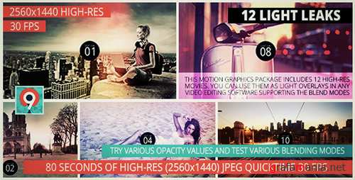Light Leaks Pack II - Motion Graphics (Videohive)