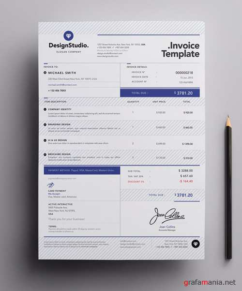 Vector Professional Invoice Template