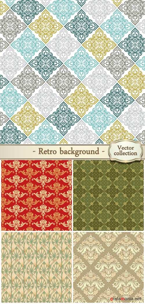 Retro background in vector patterns