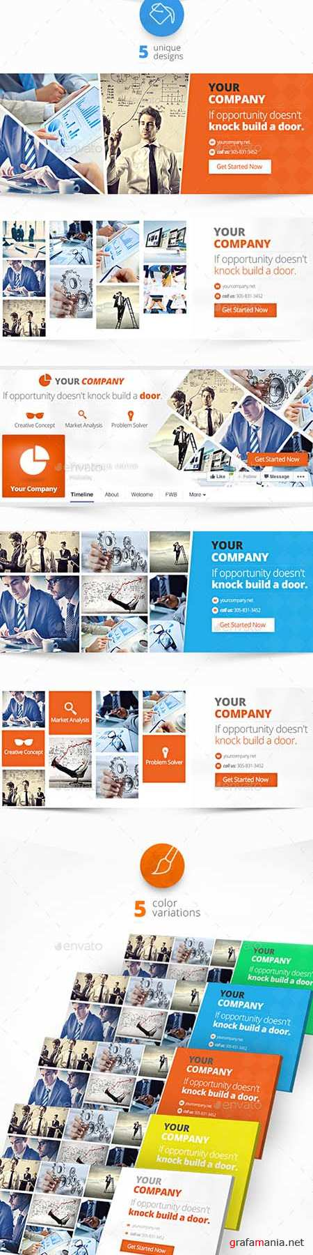 GraphicRiver - Corporate Facebook Timeline Covers 11335918