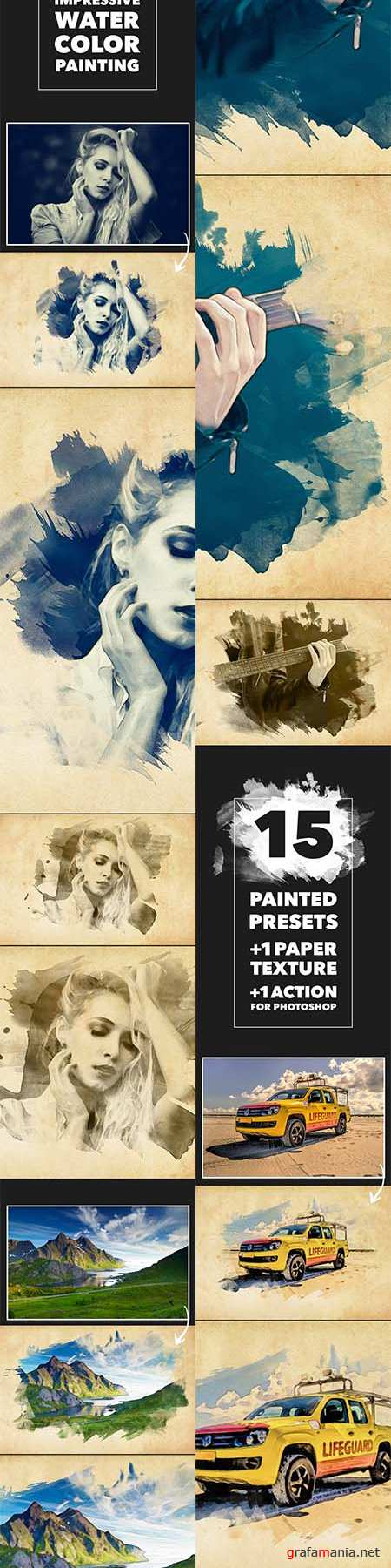 GraphicRiver - Vibrant Watercolor Effect - Photoshop Action 11869640